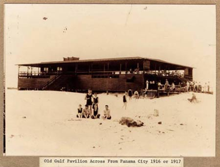 Old Gulf pavilion Across from Panama City 1916 or 1917